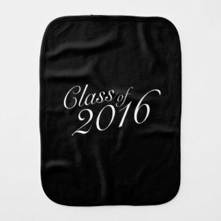 Class of 2016 High School Graduate Burp Cloths