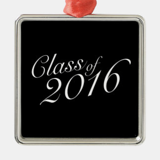 Class of 2016 High School Graduate Silver-Colored Square Decoration