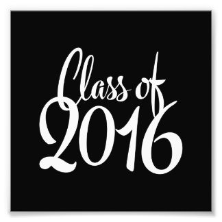 Class of 2016 Retro Typography Graduation Photographic Print