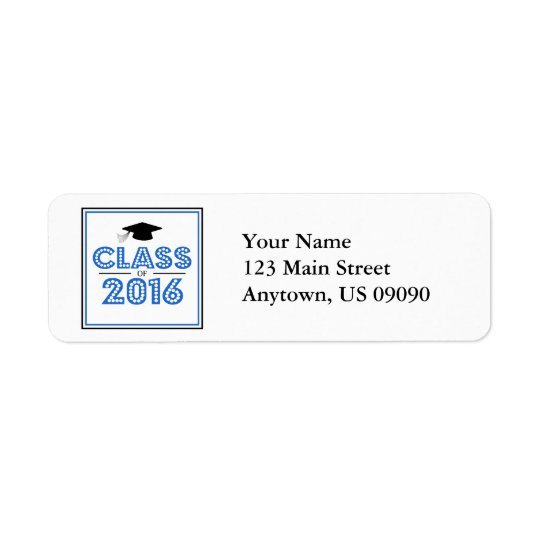 Class Of 2016 Return Address Labels (Blue / Black)