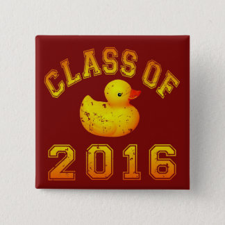 Class of 2016 Rubber Duckie 15 Cm Square Badge