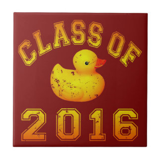 Class of 2016 Rubber Duckie Small Square Tile