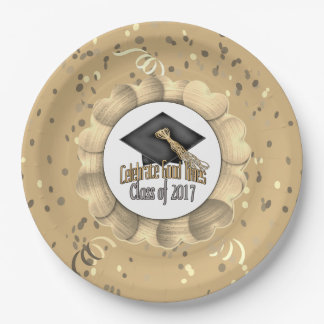 Class of 2017 Celebrate Good Times Graduation Gift 9 Inch Paper Plate