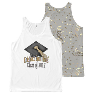Class of 2017 Celebrate Good Times Graduation Gift All-Over Print Tank Top