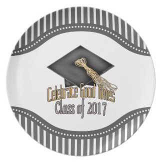 Class of 2017 Celebrate Good Times Graduation Gift Party Plate