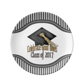 Class of 2017 Celebrate Good Times Graduation Gift Porcelain Plates