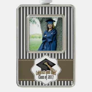 Class of 2017 Celebrate Good Times Graduation Gift Silver Plated Framed Ornament