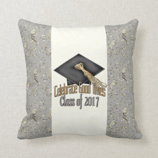 Class of 2017 Celebrate Good Times Graduation Gift Throw Pillow