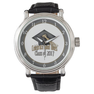 Class of 2017 Celebrate Good Times Graduation Gift Wrist Watches