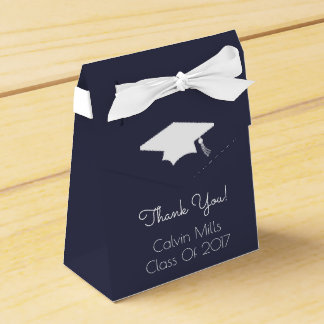 Class Of 2017 Graduation Favor Boxes (Midnight)