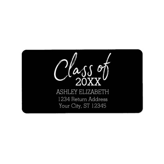 Class of 2017 Graduation Party Label