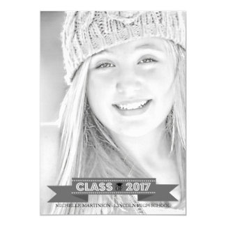 Class Of 2017 Graduation Photo Announcement (Gray)