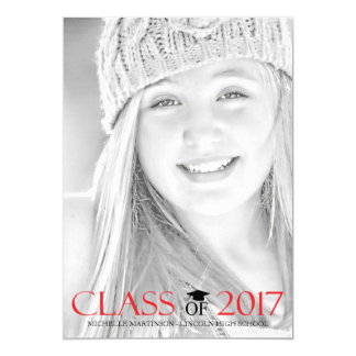 Class Of 2017 Graduation Photo Announcements (Red)