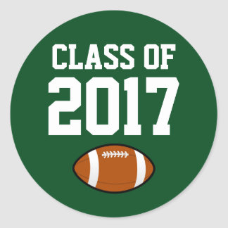 Class of 2017 Graduation Sticker Football Player