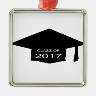 Class of 2017 Hat Silver-Colored Square Decoration
