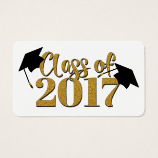 Class Of 2017 In Gold Graduation Cards