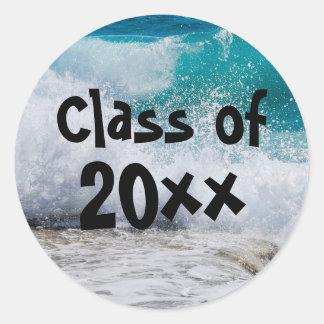 Class of 2017 Ocean Waves Surf Graduation Sticker