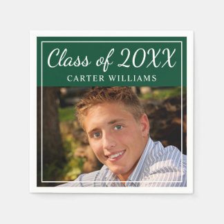 Class of 2017 Photo Napkins | Graduation Party Paper Napkins