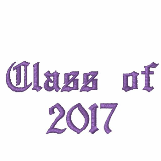 Class of 2017 - Purple Embroidered Hoodie