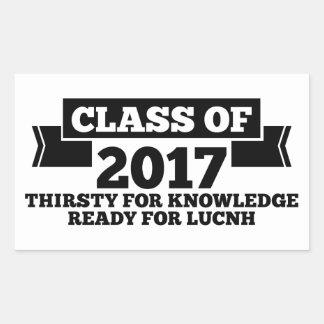 Class of 2017 rectangular sticker