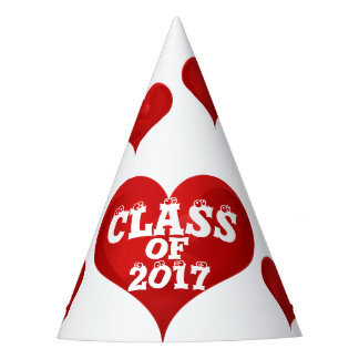 Class of 2017 Red Heart Love Party Hat