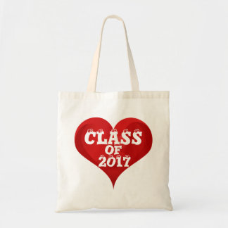 Class of 2017 Red Heart Love Tote Bag