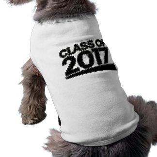 Class of 2017 sleeveless dog shirt