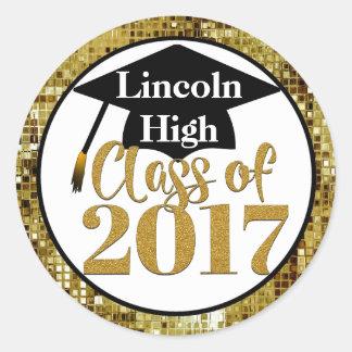 Class Of 2017 Sparkling Gold Graduation Seals