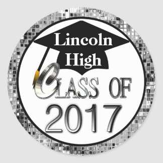 Class Of 2017 Sparkling Silver Graduation Seals