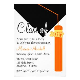 Class Of 2017 Tassel Graduation Invite (Orange)