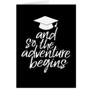 Class of 2017 - The Adventure Begins - Graduation Card