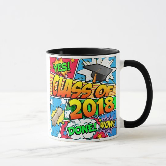 Class of 2018 Comic Book Mug