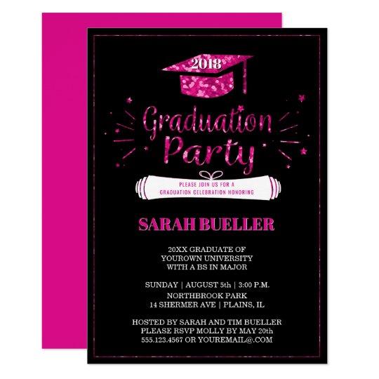 class of 2018 grad cap pink graduation party class of 2018 grad cap