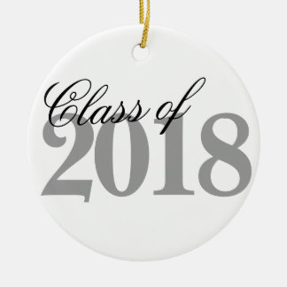 Class of 2018 Graduation | Black White Grad Year Christmas Ornament