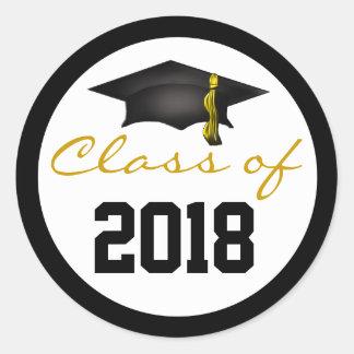 Class of 2018 Graduation Cap Round Sticker