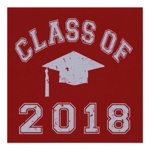 Class of 2018 graduation grey 13 cm x 13 cm square invitation card