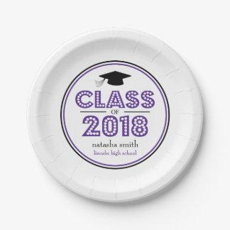 Class Of 2018 Graduation Plates (Eggplant)