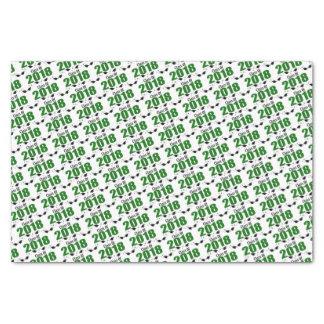 Class Of 2018 Graduation Tissue Paper (Green Caps)