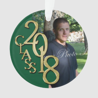 Class of 2018 Green and Gold Photo Ornament