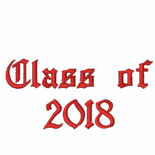 Class of 2018 - Red Embroidered Hoody