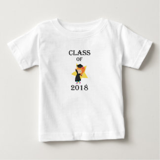 Class of 2018 Red Haired Girl Cap and Gown Star
