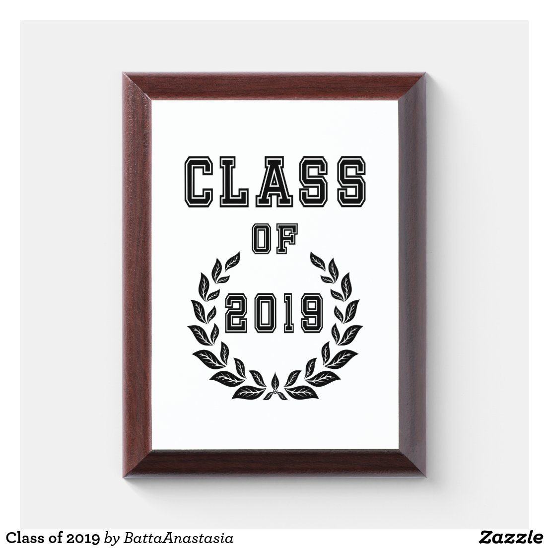 Class of 2019 award plaque