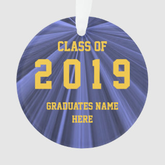 Class of 2019 Blue and Gold Ornament by Janz