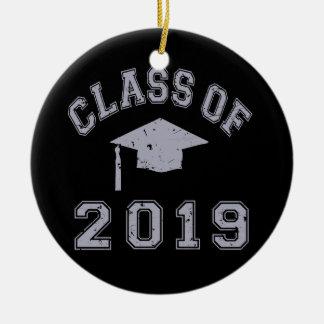 Class Of 2019 Graduation - Grey Christmas Tree Ornaments
