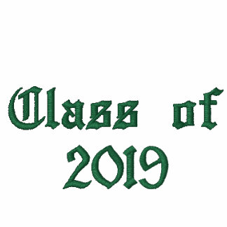 Class of 2019 - Green Embroidered Hooded Sweatshirt