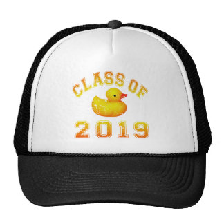Class Of 2019 Rubber Duckie - Orange/Red 2 Mesh Hats