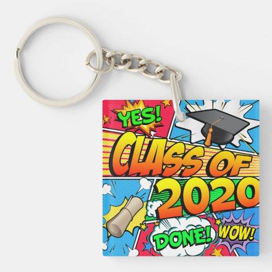 Class of 2020 Comic Book Key Ring