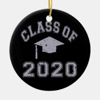 Class Of 2020 Graduation - Grey Christmas Tree Ornament