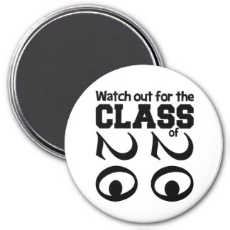 CLASS OF 2020 magnet, large 7.5 Cm Round Magnet