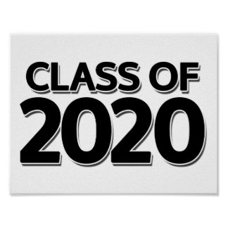 Class of 2020 poster